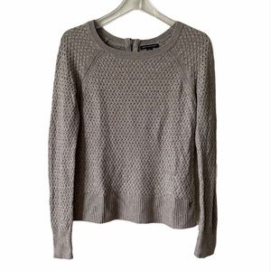 American Eagle Grey Knit Pullover Sweater Small